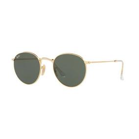 Oculos Sol Ray Ban Round Metal Rb3447l 001 53mm Dourado G15. R  479 e8562fd7aa