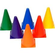 Kit 6 Cones 23cm Funcional Demarcatorio Agilidade