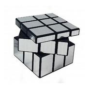 Cubo Magico Tipo  Rubik Mirror Silver 3x3x3 Liso Metalizado