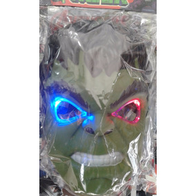 Mascara Del Increible Hulk Con Luz!!! - Super Oferta