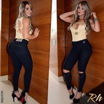 Calça Montaria Rhero Jeans Com Bojo Estilo Pit Bull