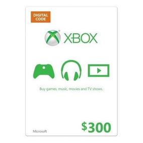 Tarjeta De Regalo Xbox One Xbox 360 300 Pesos