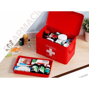 Lata Caixa Organizadora Armazenamento Remédios Vintage