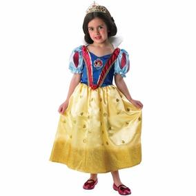 Disfraz Princesas Blanca Nieves Snow White Vestido Tiara