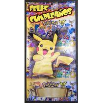 Lona Letrero Fiesta Feliz Cumpleaños Pokemon Go