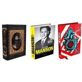 Livro Zé Do Caixão Maldito + Manson + Stephen King - Bios