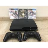 Playstation 3 Con 2 Controles Y 3 Juegos Como Nuevo 160gb.