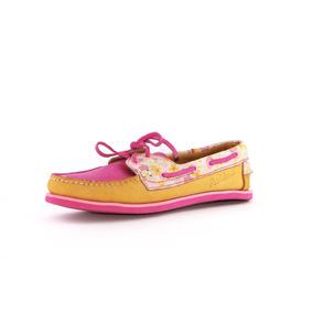 Zapatos Nauticos Mocasines Peskdores Flor Rosa Fr00010