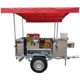 Reboque Caldo De Cana 200l/h Motor Gasolina 6.5 Cv Toda Inox