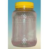 Pote 1 Kg Miel Texturado Transparente, Tapa Amarilla Rosca.