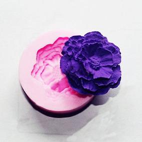 Torta Vela Decoración Diy 3d Peonía Flor Forma Fondant Molde