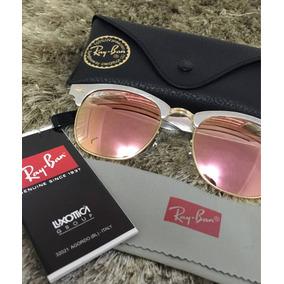 7e5f7229453c1 Óculos Clubmaster 3507 Aluminium Rosa Feminino Lente Cristal
