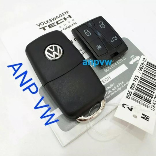Kit Alarme Original Canivete Vw Tech Up Gol Voyage Fox Sav