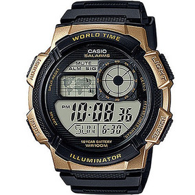 Relógio Casio Masculino Hora Mundi Ae-1000w-1a3vdf
