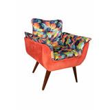 Poltrona,cadeira ,puff,decorativa Modelo Opala Glamour,sala