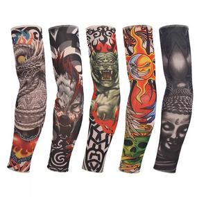 Tatuagem Falsa Fake Tattoo Sleeve Segunda Pele Manga Unidade