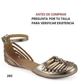 Flats Milagros Para Dama Color Oro Y Seda Mod. 45160