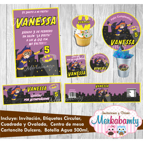 Invitacion Batgirl Kit De Cumpleaños Imprimelo Tú!!