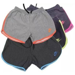 Shorts Moleton Nike Feminino Malhar Corrida Moda Fitness