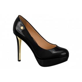 c09b34f9bc Scarpin Preto Verniz Vizzano 38 Femininos - Sapatos no Mercado Livre ...