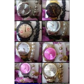 Kit 8 Relógios Feminino C/pulseira+caixa