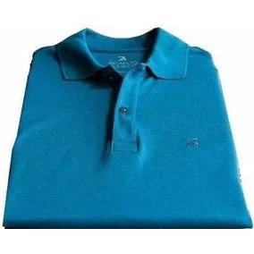 Camisa Ricardo Almeida Azul Gola Polo Manga Curta Origin