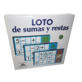Juego Loto De Sumas Y Restas