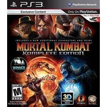 Mortal Kombat Komplete Edition Ps3 Psn Play3 Midia Digital