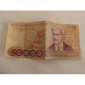 Nota, Cédula Antiga 50.000 Cinquenta Mil Cruzeiros