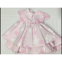 Vestido Bebe Princesa Rn A 3 M Festa Casamento Aniversario