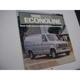 Folder Ford Furgao E100 Super Van Econoline 86 1986 V8