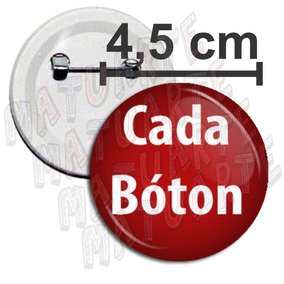 Boton Botons Broches Bottons Botton Pin Personalizados 4,5cm