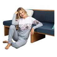 Pijama De Invierno Mujer Con Capucha Estampado
