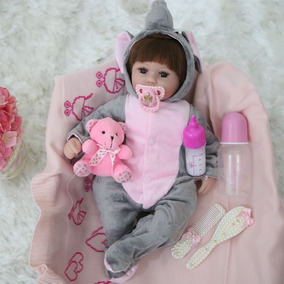 Boneca Bebê Reborn Roupa De Elefante Pronta Entrega