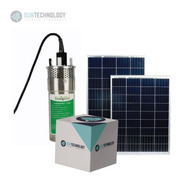 Bomba Sumergible Solar Ac Inox + Panel 150w + Regulador 20 A