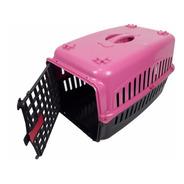 Caixa De Transporte Alça Porta Gatos Coelhos Rosa/preta N2