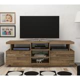 Mueble Para Tv Color Rustico Con Cajones Y Estantes