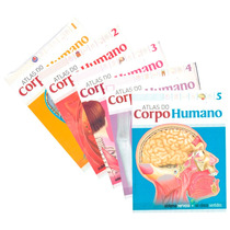 Atlas Do Corpo Humano Kit Em 5 Volumes + Pôster Anatomia