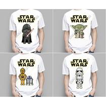 Camiseta Camisa Masculina Feminina Infantil Adulto Star Wars
