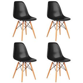 4x Cadeiras Eames Wood Melhor Preço Do Brasil Frete Grátis