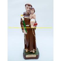 Escultura Santo Antonio Imagem 20c Lindo Menino Jesus Solto