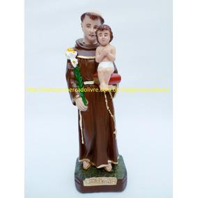 Imagem Santo Antonio Estatua 20cm Lindo Menino Jesus Solto