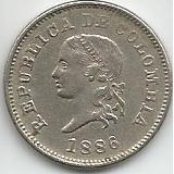 Moneda 5 Centavos 1886 Varios Troqueles