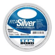 Fita Silver Tape Tekbond 48mm X 5 Metros Branca