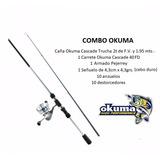Combo Caña - Carrete Okuma Para Rio + Accesorios + Regalo.