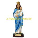 Estatua Nossa Senhora Rosario Imagem Gesso 40cm Fabrica Br