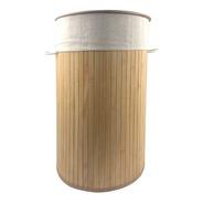 Canasto Cesto Ropa Sucia Organizador Cesto Bambú Plegable