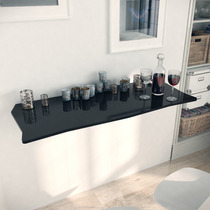 Mesa Dobrável Suspensa Para Cozinha Em Mdf 110 Cm Preto