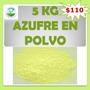 5 Kg De Azufre En Polvo Fungicida, Insecticida