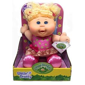 Cabbage Patch Kids Sittin Pretty Doll Blonde Hair/azul Ojos